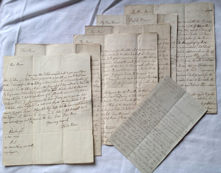 David Hume - Six Autograph Letters to William Mure 1763-1776
