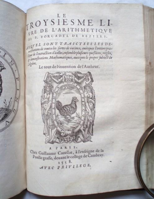 Pierre Forcadel - L'Arithmeticque 1557-1558