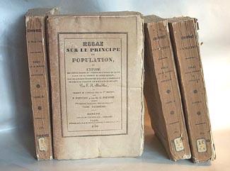 T.R. Malthus - Essai sur le Principe de Population. Genève 1830