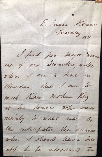 James Mill - Autograph letter signed to Jeremy Bentham 1831