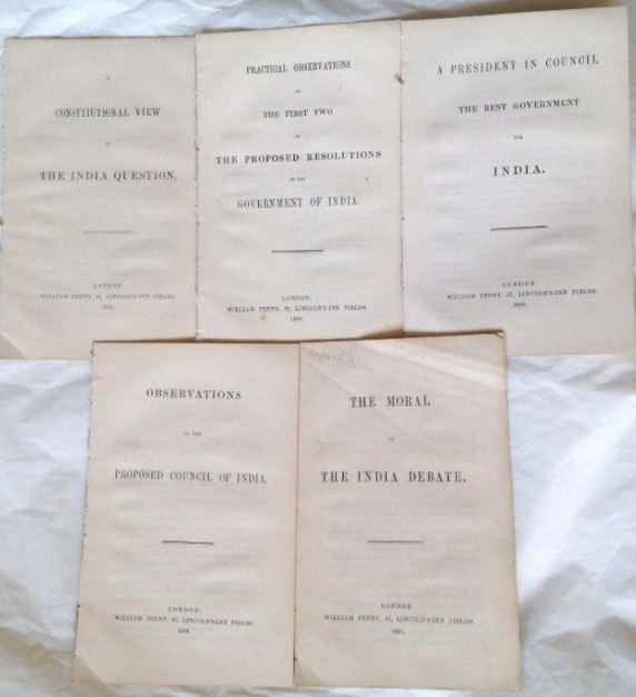 John Stuart Mill. Memorandum Of The Improvements In The Administration Of India During The Last Thirty Years [With 5 Other Works]